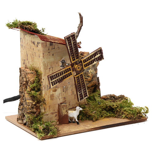 Nativity accessory, electric windmill with sheeps 3