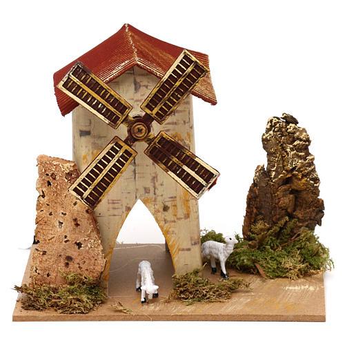 Mini moulin à vent et brebis électrique 1,2W 10t/m 5