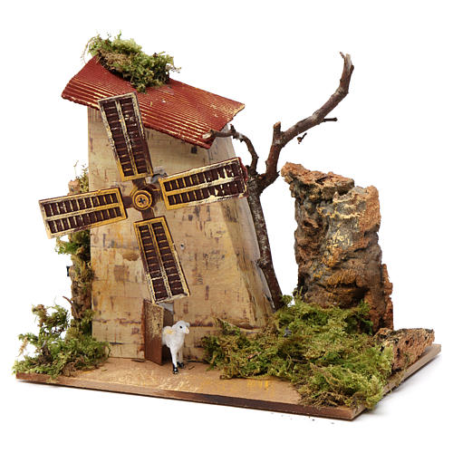 Nativity accessory, electric windmill with sheeps 2