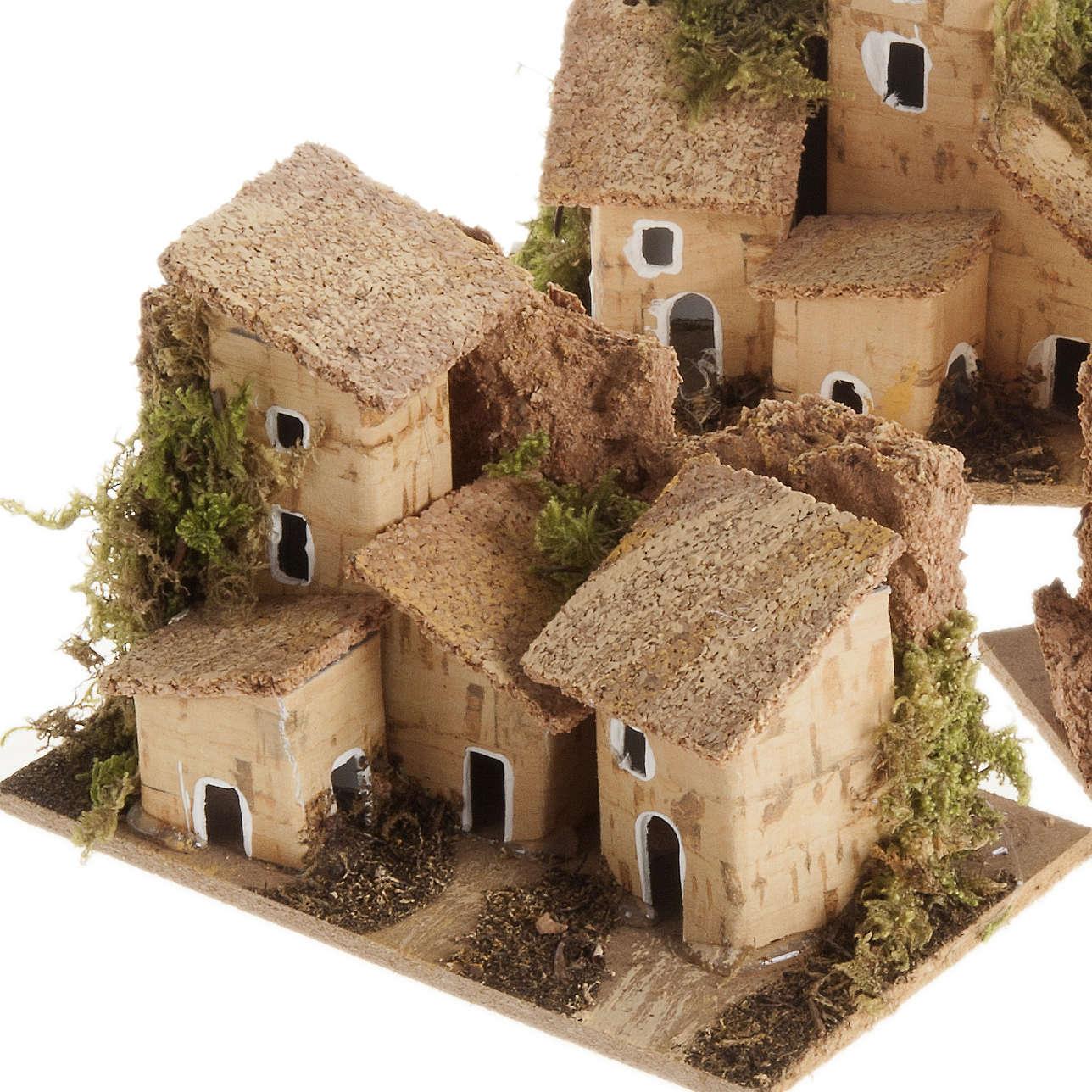 Casetta presepe legno tetto sughero 4