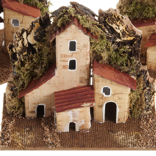 Nativity setting, house in wood with base 2