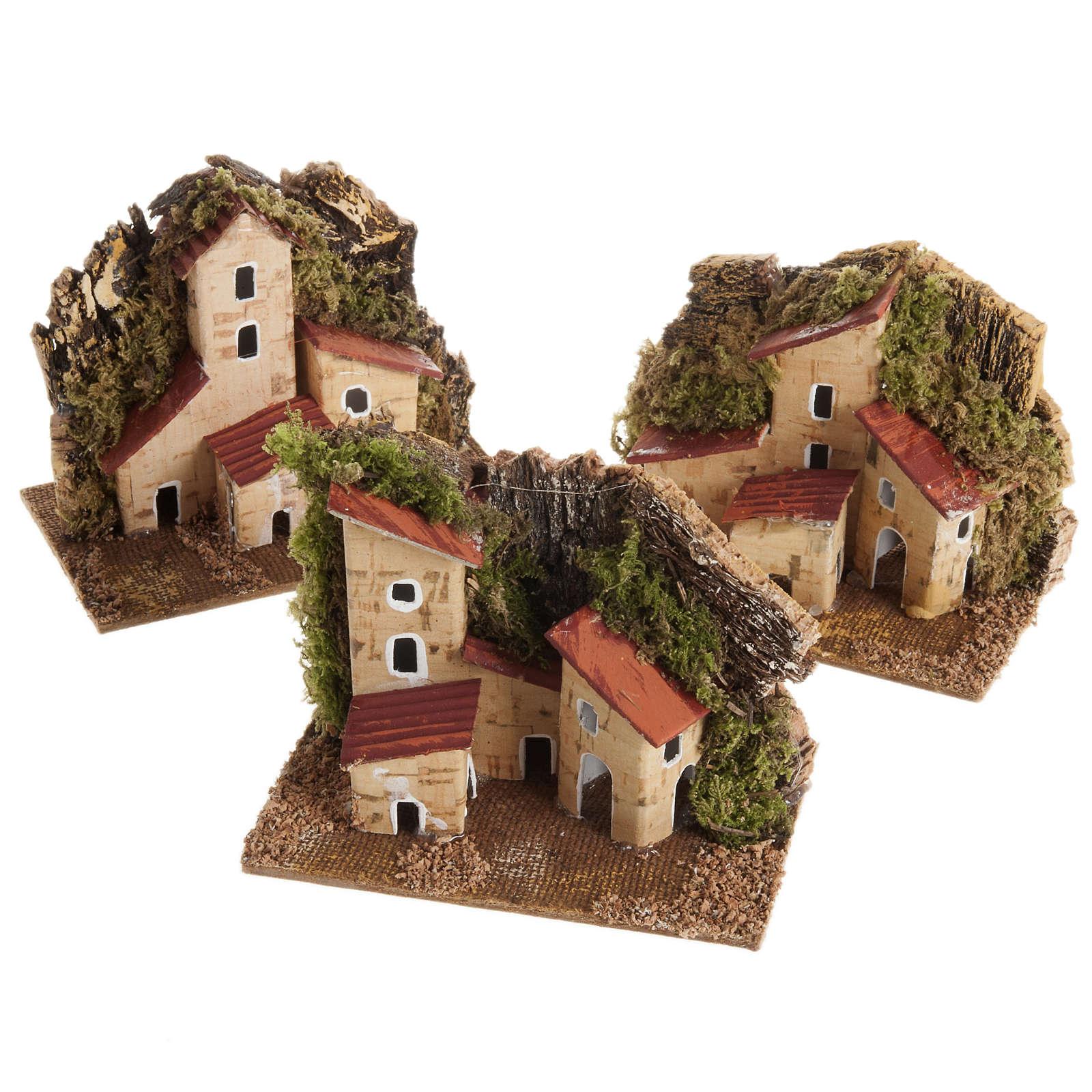 Casa belén con base de madera 4