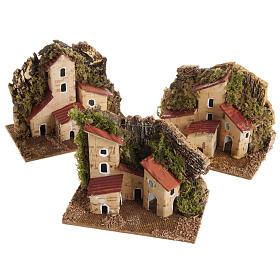 Casa presepe legno su base s1