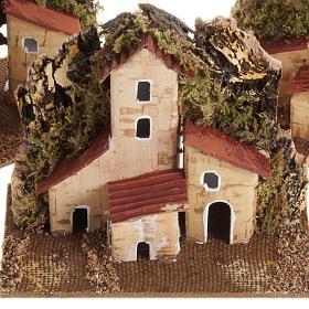Casa presepe legno su base s2