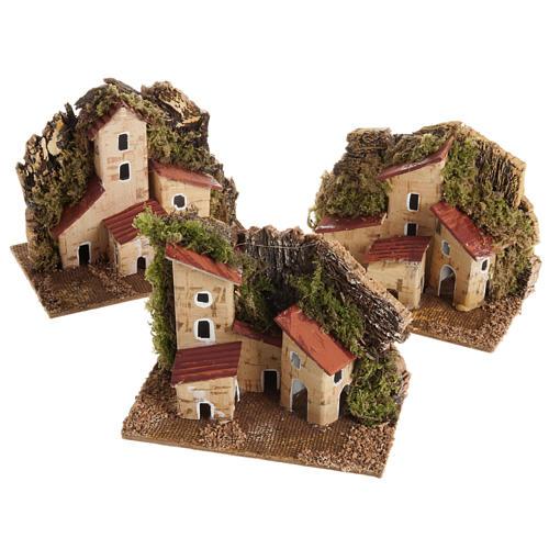 Casa presepe legno su base 1