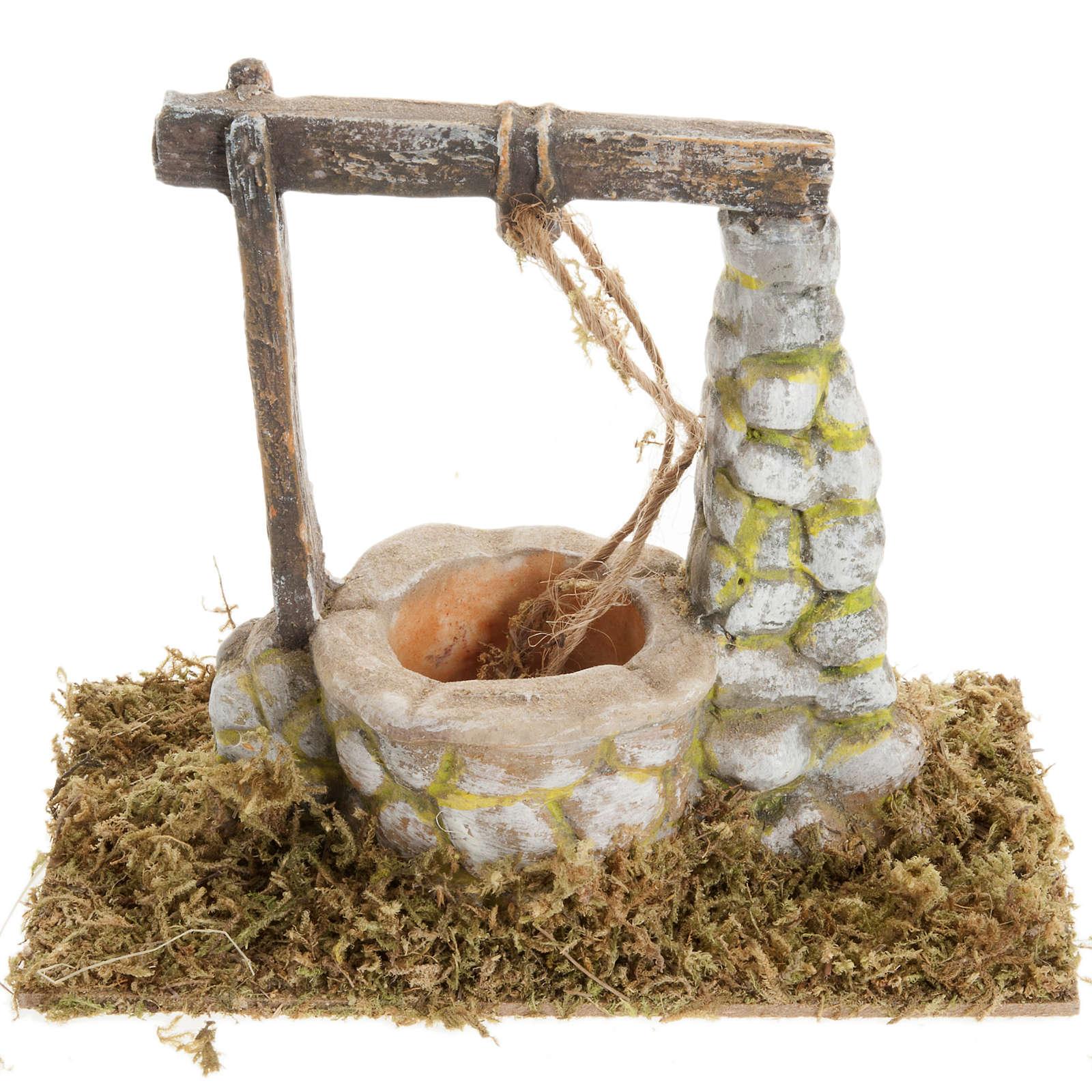 Puits en miniature crèche Noel 8x15cm 4