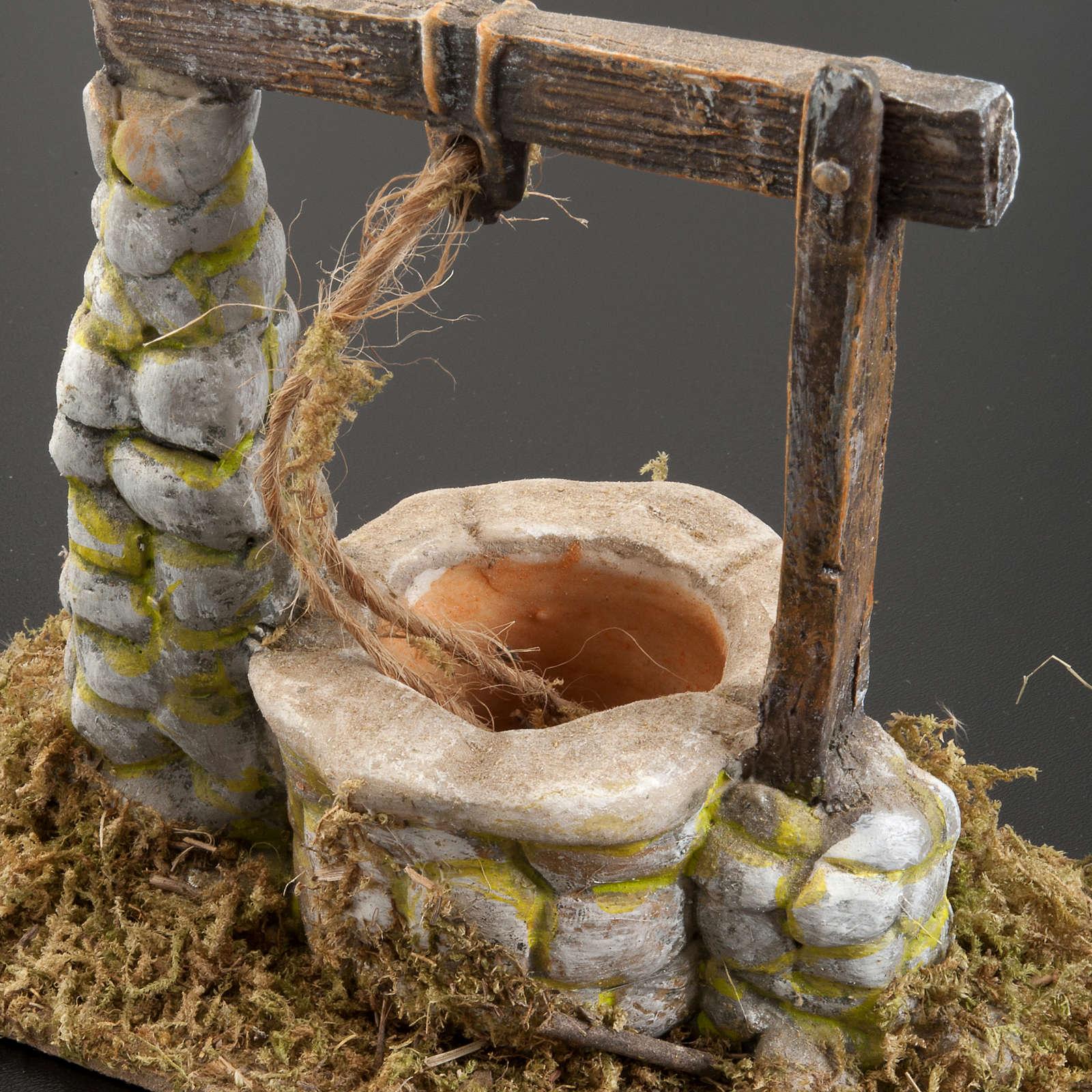 Puits en miniature crèche Noel 8x15cm | vente en ligne sur HOLYART