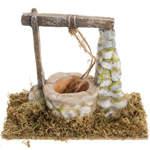Puits en miniature crèche Noel 8x15cm 1