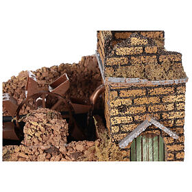 Nativity set accessory, electric watermill, 17x25x15 cm s2