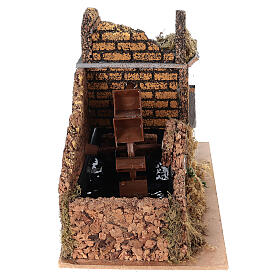 Nativity set accessory, electric watermill, 17x25x15 cm s5