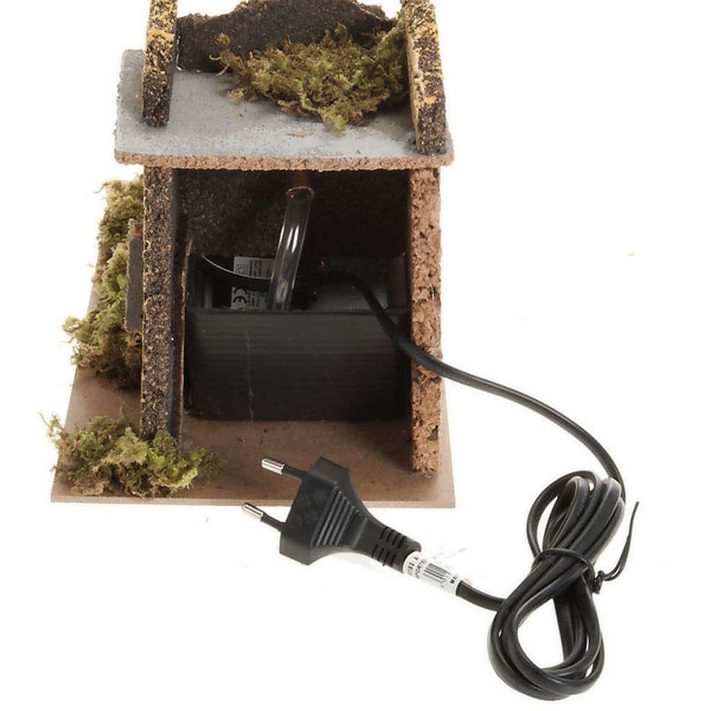 Mini moulin à eau avec pompe crèche Noel 17x25x15 4