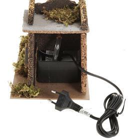 Mini moulin à eau avec pompe crèche Noel 17x25x15 s3
