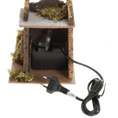 Mini moulin à eau avec pompe crèche Noel 17x25x15 3