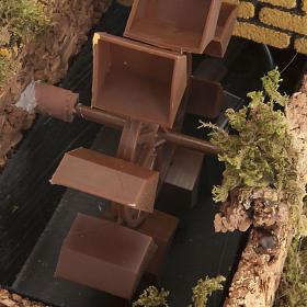 Mulino ad acqua con pompa per presepe 17x25x15 s2