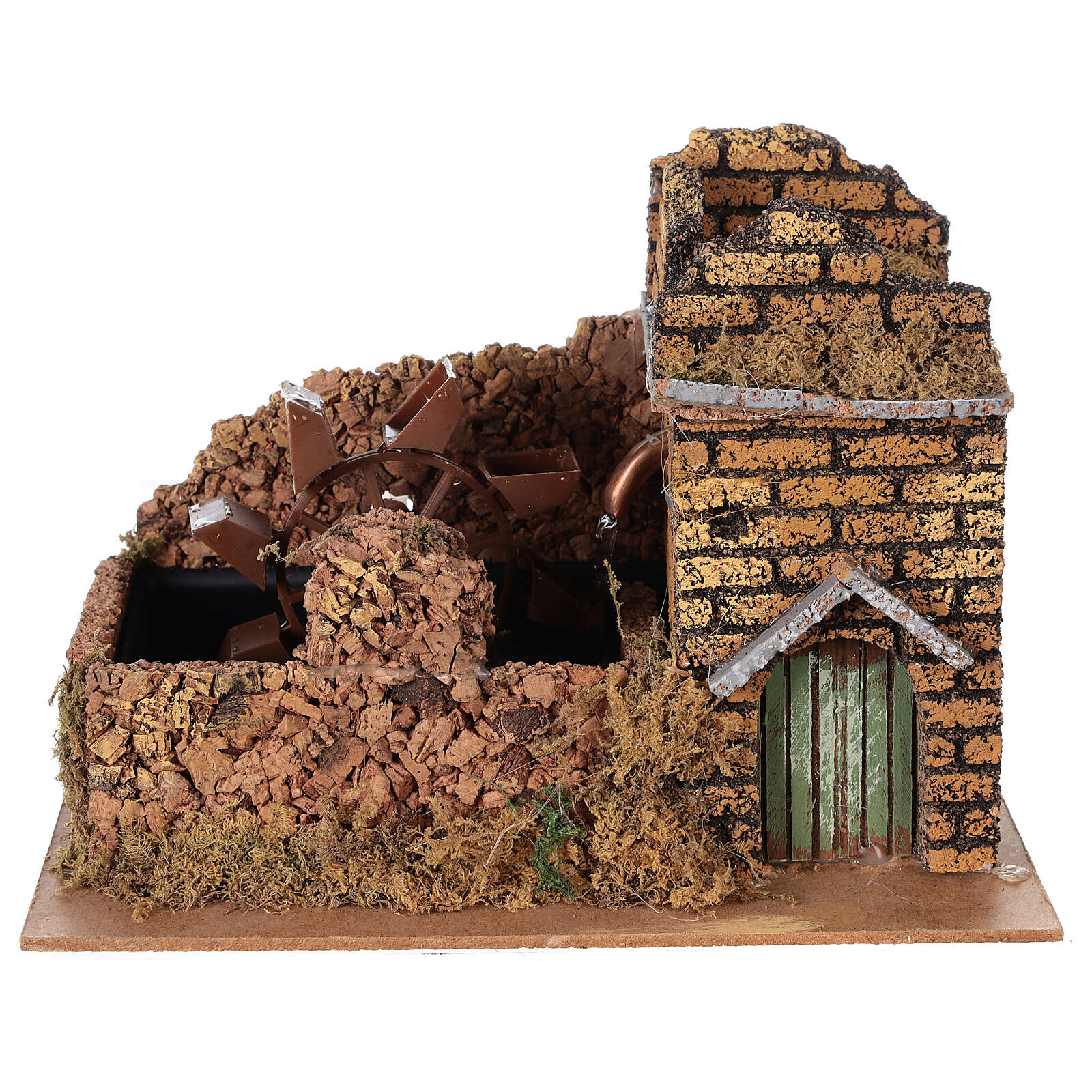 Nativity set accessory, electric watermill, 17x25x15 cm 4