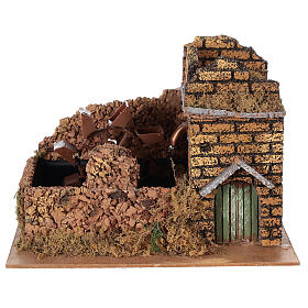 Nativity set accessory, electric watermill, 17x25x15 cm s1