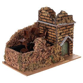 Nativity set accessory, electric watermill, 17x25x15 cm s3