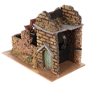 Nativity set accessory, electric watermill, 17x25x15 cm s4