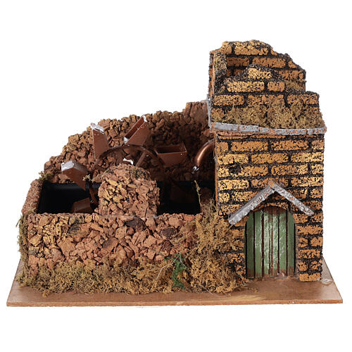 Nativity set accessory, electric watermill, 17x25x15 cm 1