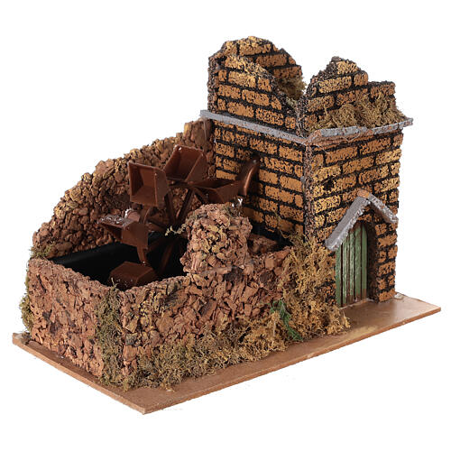 Nativity set accessory, electric watermill, 17x25x15 cm 3