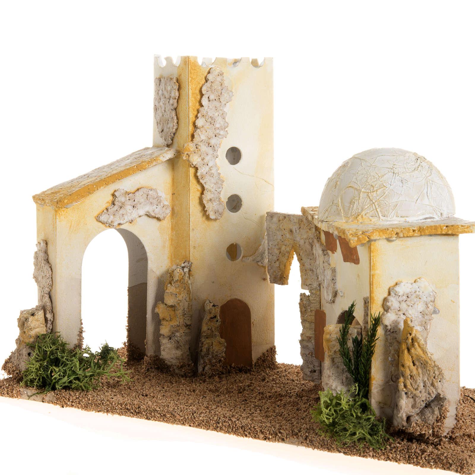 Minaret double en miniature crèche Noel 4