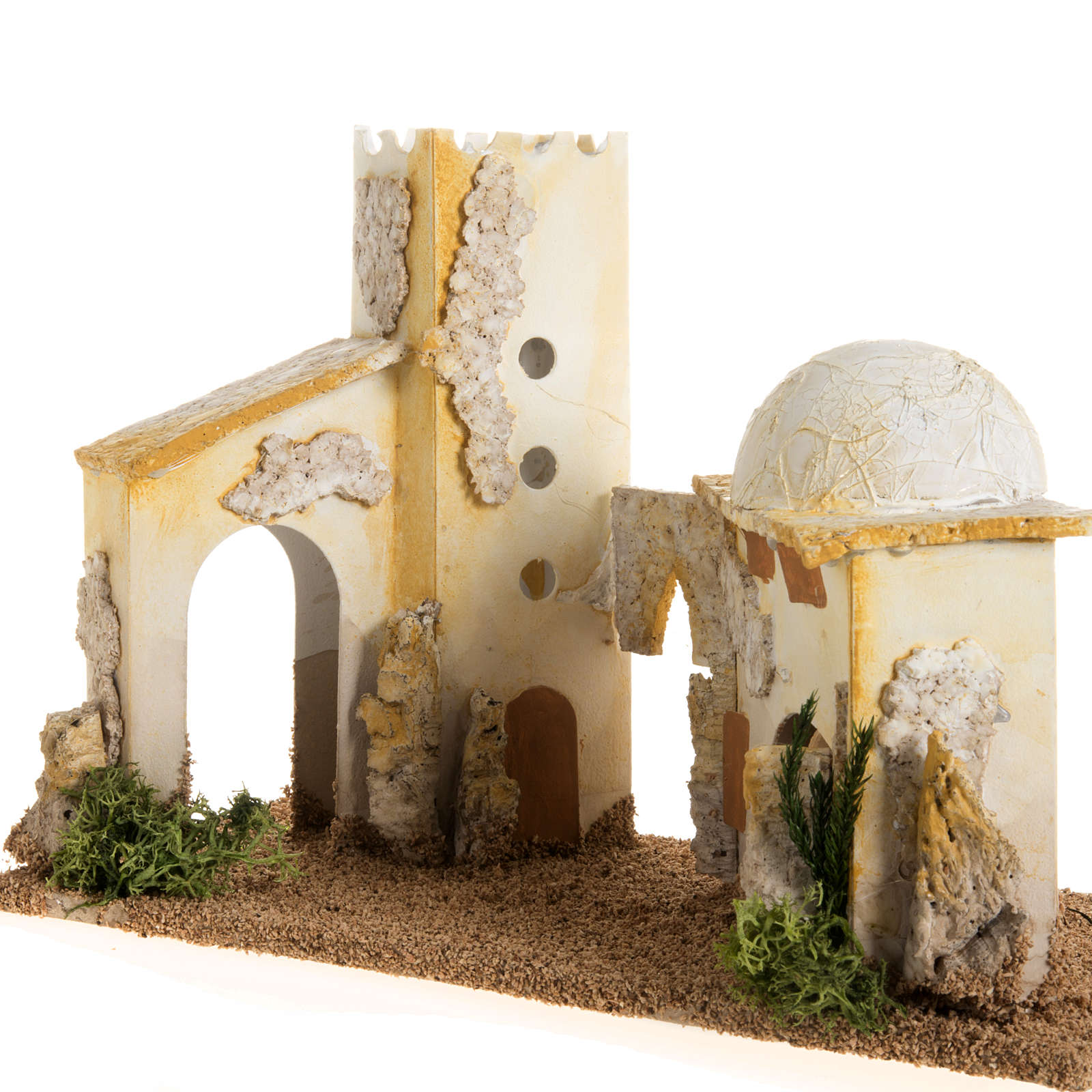 Nativity setting, double minaret 4