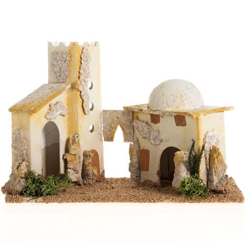 Nativity setting, double minaret 1