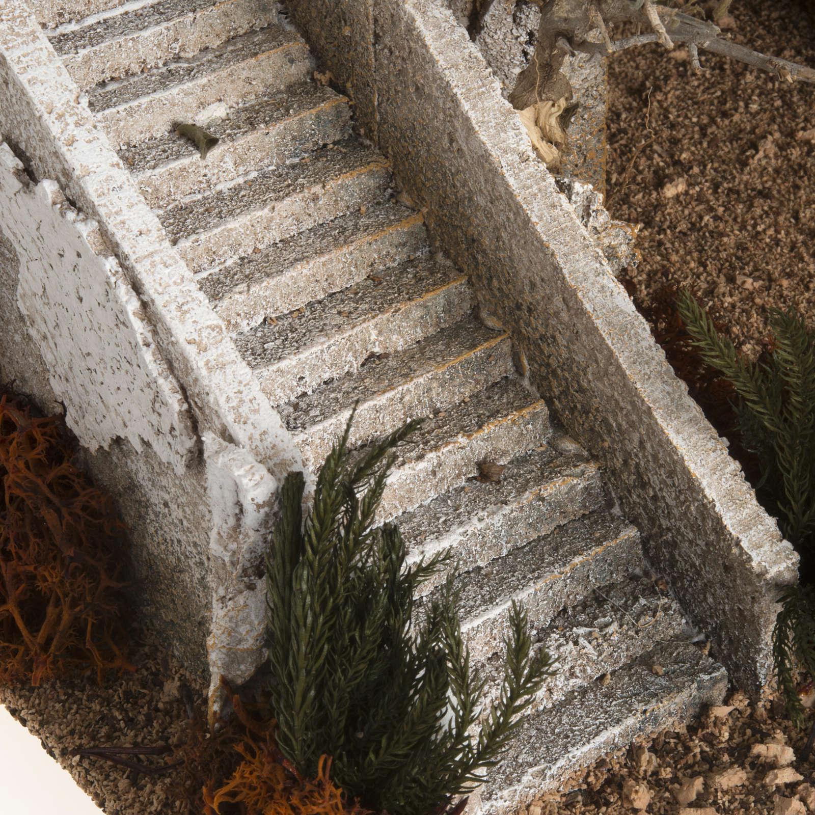 Alminar con escalera ambientación pesebre 4