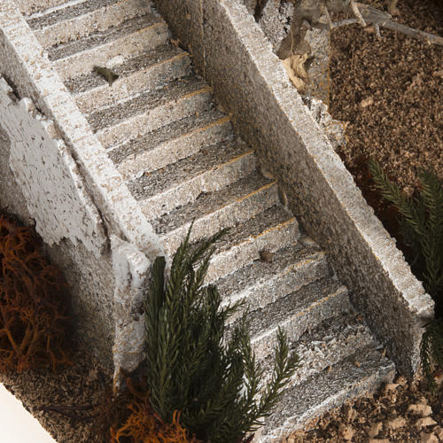 Alminar con escalera ambientación pesebre 7