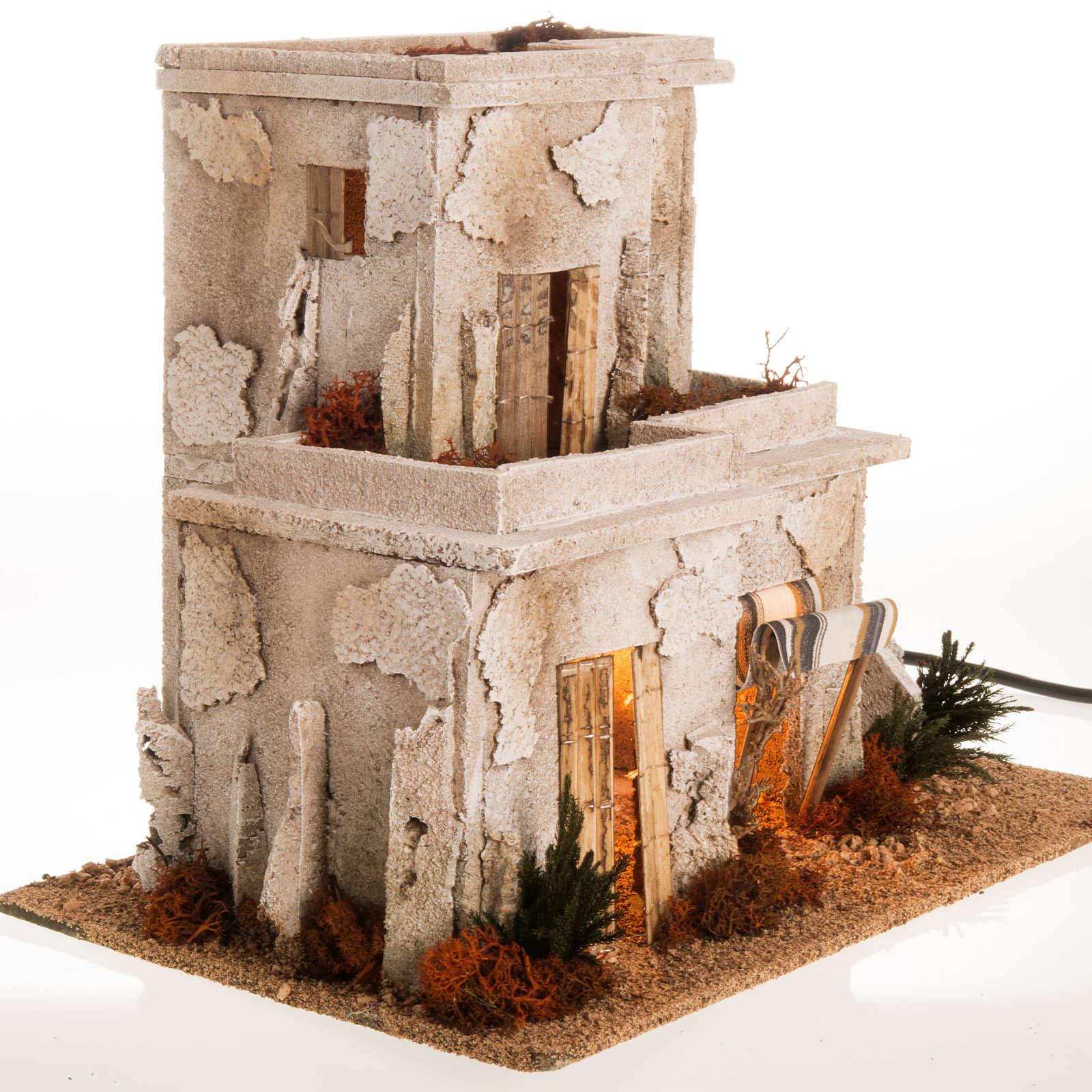 Minareto con scala illuminato: ambientazione presepe 4