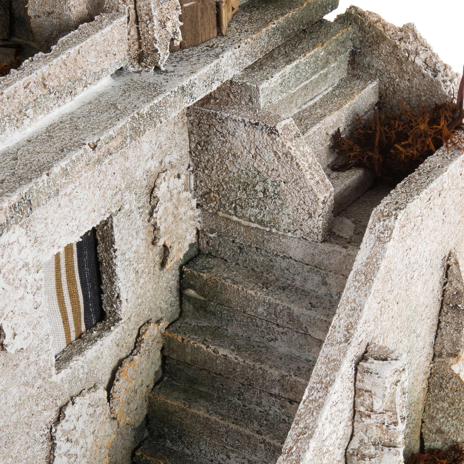 Nativity setting, illuminated minaret with stairs 4