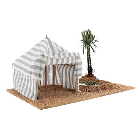 Nativity setting, oasis with tent s3