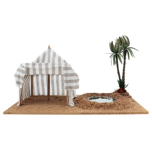 Nativity setting, oasis with tent 1