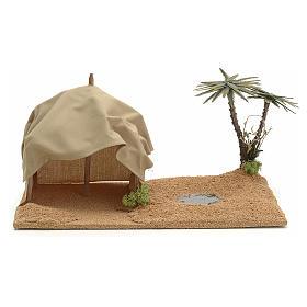 Oasis avec tente, milieu pour crèche s1