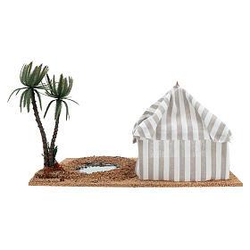 Oasis avec tente, milieu pour crèche s4