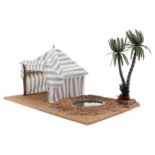 Oasis avec tente, milieu pour crèche 2