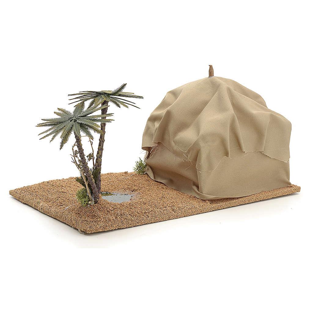 Oasi con tenda: ambientazione presepe 4