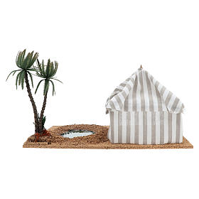 Oasi con tenda: ambientazione presepe s4