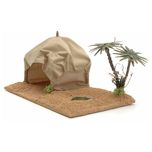 Oasi con tenda: ambientazione presepe 2