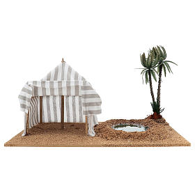 Nativity setting, oasis with tent s1