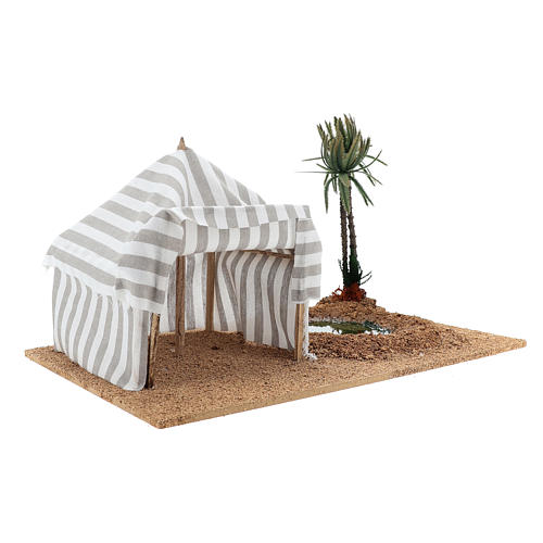Nativity setting, oasis with tent 3