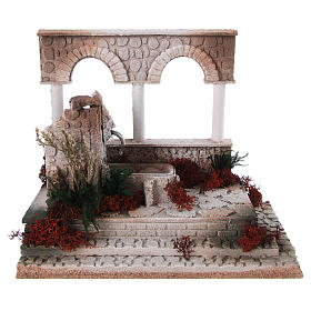 Fontaines crèche: Mini fontaine arabe avec colonned et arcs