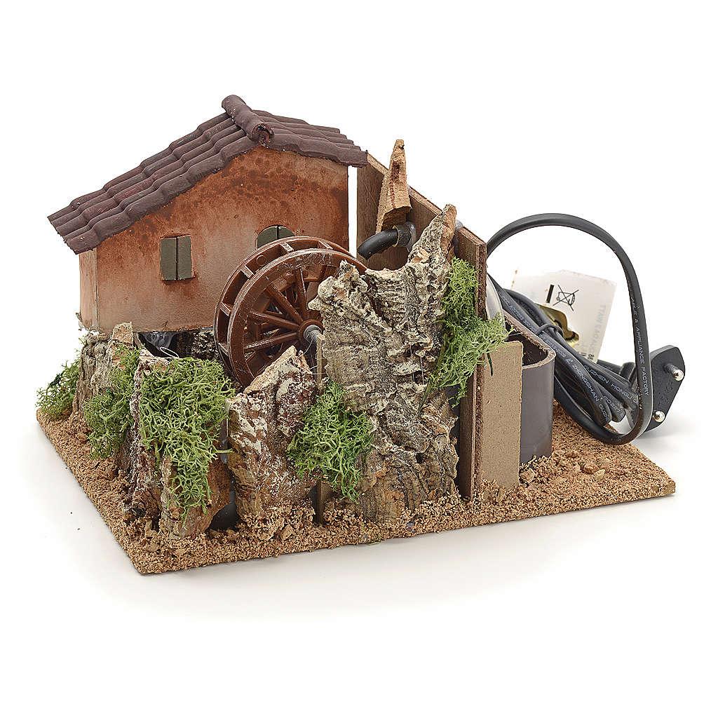 Nativity accessory, watermill 13x20x25 cm 4