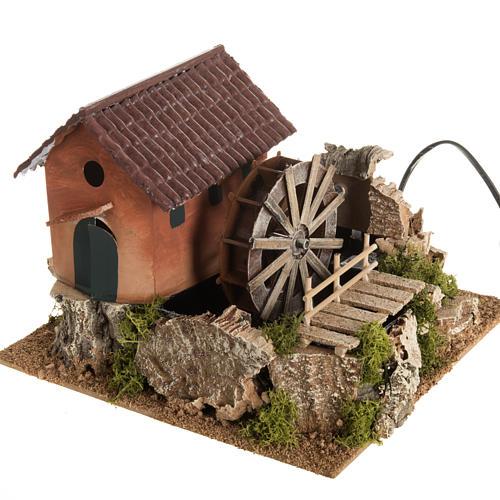 mini moulin eau et maison cr che noel 24x29x29 vente en ligne sur holyart. Black Bedroom Furniture Sets. Home Design Ideas