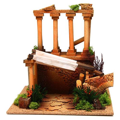 Ancient Roman ruins for Nativity scene 1