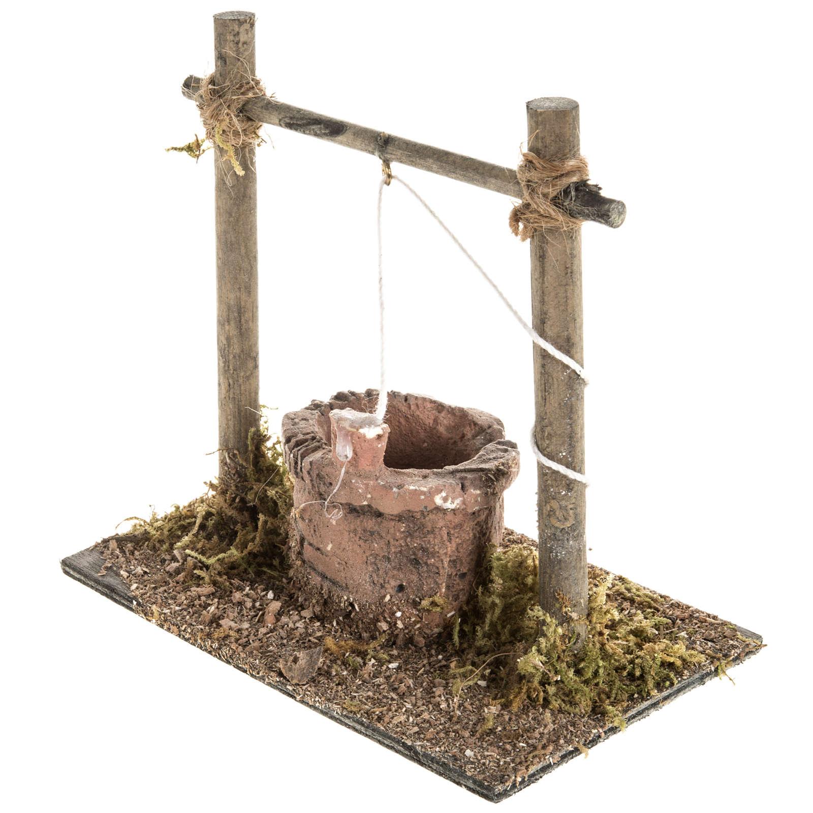 Mini puits crèche Noel 12x11x8 cm 4