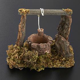 Mini puits crèche Noel 12x11x8 cm s5