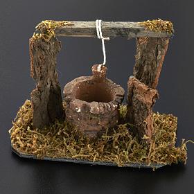 Mini puits crèche Noel 12x11x8 cm s6