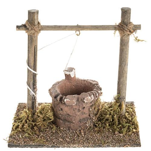 Mini puits crèche Noel 12x11x8 cm 1