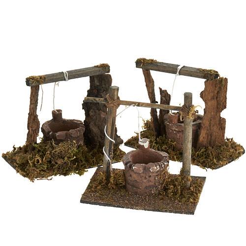 Mini puits crèche Noel 12x11x8 cm 2